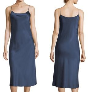 Theory Telson Straight Satin Slip Dress Size 4